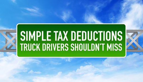 tax write offs for truck drivers
